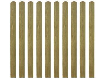 Latte imprégnée de clôture 30 pcs 120 cm Bois FSC - vidaXL