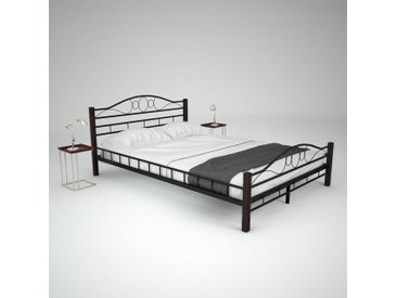Cadre de lit et sommier à lattes Métal 140 x 200 cm - vidaXL