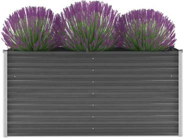 Jardinière Acier galvanisé 160 x 40 x 77 cm Gris - vidaXL