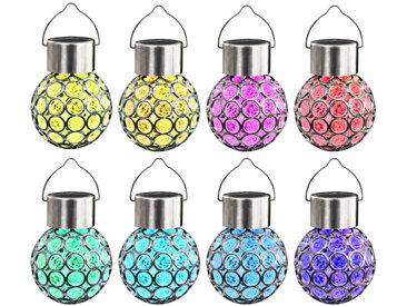 Lampe solaire suspendue 8 pcs lumières LED RGB - vidaXL