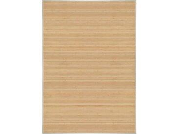 Tapis en bambou 120 x 180 cm Naturel - vidaXL