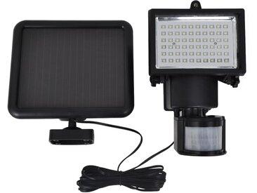 Spot LED solaire Noir avec  détecteur - vidaXL