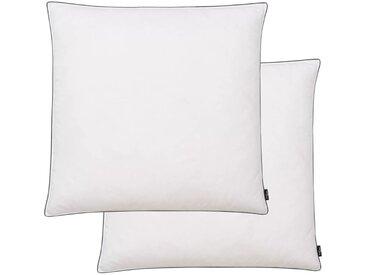 Oreiller 2 pcs Remplissage de duvet 80 x 80 cm Blanc - vidaXL