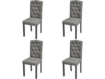 Chaise de salle à manger 4 pcs Tissu Gris foncé  - vidaXL