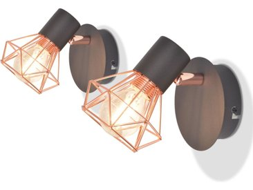 Lampe murale avec 2 ampoules LED à incandescence 2 pcs 8 W - vidaXL
