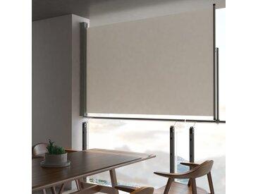 Auvent latéral rétractable de patio 160 x 300 cm Blanc cassé - vidaXL