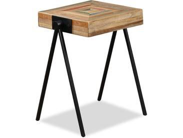 Table dappoint Teck massif de récupération  - vidaXL