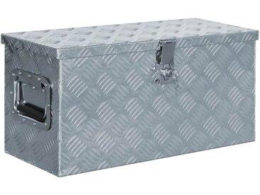 Boîte en aluminium 61,5 x 26,5 x 30 cm Argenté - vidaXL