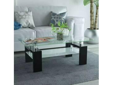 Table basse avec étagère inférieure 110x60x40cm Noir - vidaXL