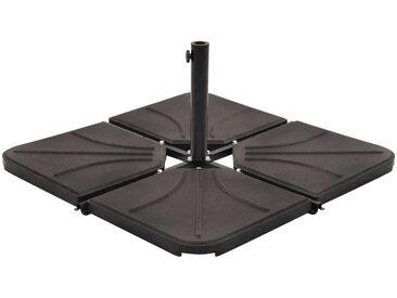 Plaque de poids de parasol Noir Béton Carré 18 kg - vidaXL