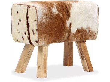Tabouret Cuir véritable de chèvre 60 x 30 x 50 cm - vidaXL