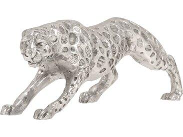 Sculpture forme de jaguar Aluminium solide 50x10x14 cm Argenté - vidaXL