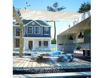 Auvent de patio Tissu Oxford 140 x 270 cm Crème - vidaXL
