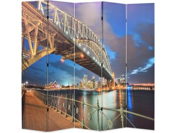 Cloison de séparation pliable 200x180 cm Harbour Bridge Sydney - vidaXL