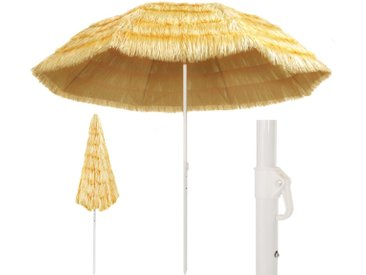 Parasol de plage Naturel 300 cm Style hawaïen  - vidaXL