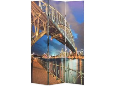 Cloison de séparation pliable 120x180 cm Harbour Bridge Sydney - vidaXL