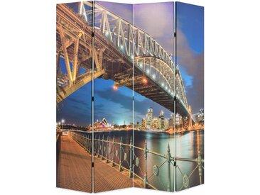 Cloison de séparation pliable 160x180 cm Harbour Bridge Sydney - vidaXL