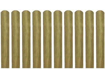 Latte imprégnée de clôture 30 pcs 60 cm Bois - vidaXL