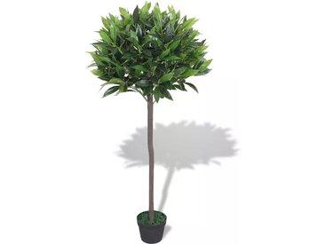 Laurier artificiel avec pot 125 cm Vert - vidaXL