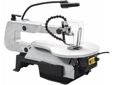 Scie à chantourner à éclairage Acier Profondeur de coupe 406 mm - vidaXL
