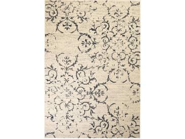 Tapis moderne Design floral 160 x 230 cm Beige / Bleu - vidaXL