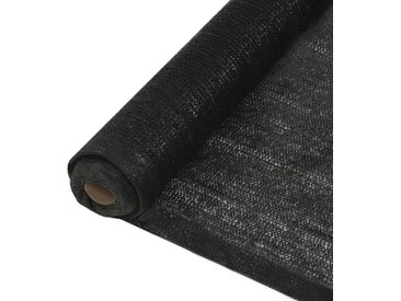 Filet brise-vue PEHD 1,5 x 50 m Noir - vidaXL