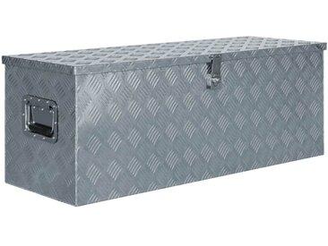 Boîte en aluminium 110,5 x 38,5 x 40 cm Argenté - vidaXL