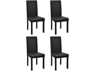 Chaises de salle à manger 4 pcs Noir Similicuir - vidaXL