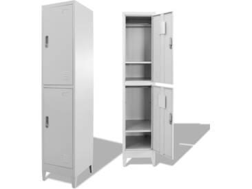 Armoire à casiers avec 2 compartiments 38 x 45 x 180 cm   - vidaXL
