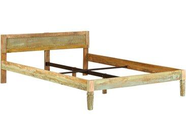 Cadre de lit Bois de manguier massif avec finition vieux bois - vidaXL