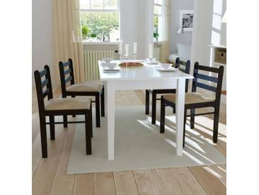 Chaise de salle à manger 4 pcs Carrée Bois Marron  - vidaXL
