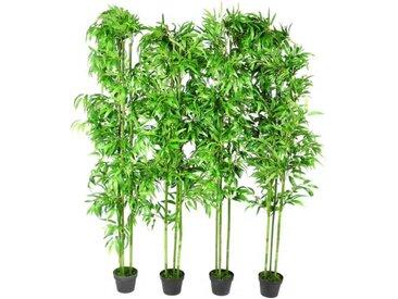 Lot de 4 bambous artificiels 190cm - vidaXL