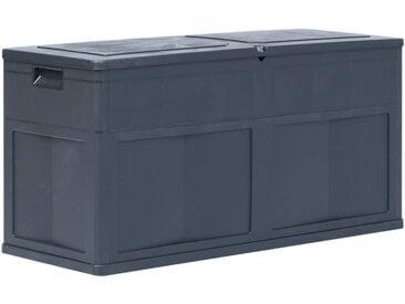 Boîte de rangement de jardin 320 L Noir - vidaXL