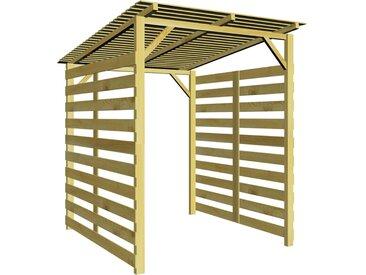 Abri de stockage du bois de chauffage Bois de pin imprégné FSC  - vidaXL