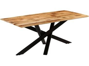 Table de salle à manger Bois de manguier brut 180 x 90 x 77 cm - vidaXL