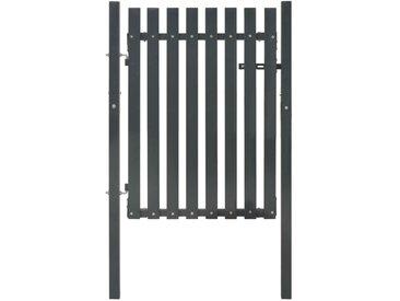 Portail de clôture Acier 103x125 cm Anthracite  - vidaXL