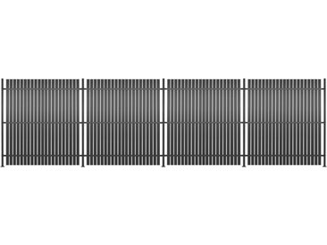 Panneau de clôture 4 pcs Aluminium 720 x 180 cm Anthracite - vidaXL