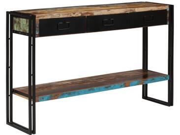 Table console Bois de récupération massif 120 x 30 x 76 cm - vidaXL