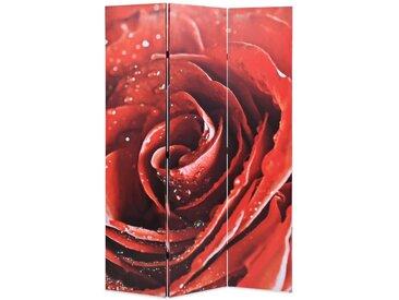 Cloison de séparation pliable 120 x 180 cm Rose rouge - vidaXL