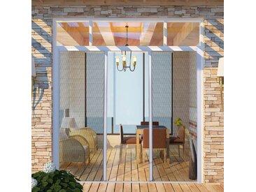 Moustiquaire coulissante pour portes doubles Blanc 215x215 cm - vidaXL