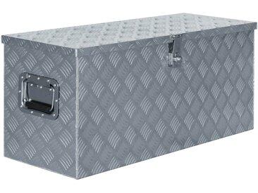 Boîte en aluminium 90,5 x 35 x 40 cm Argenté - vidaXL