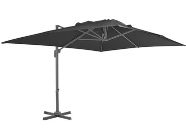 Parasol en porte-à-faux Mât en aluminium 400x300 cm Anthracite - vidaXL