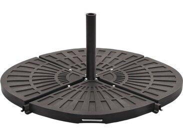 Plaque de poids pour parasol Noir Forme d'éventail 20 kg - vidaXL