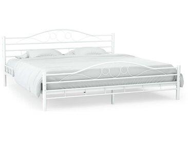 Cadre de lit et sommier à lattes Métal 180x200 cm Design ondulé  - vidaXL