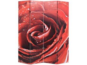 Cloison de séparation pliable 160 x 180 cm Rose rouge - vidaXL