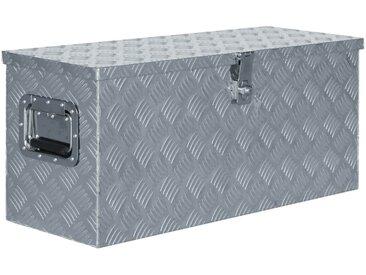 Boîte en aluminium 80 x 30 x 35 cm Argenté - vidaXL