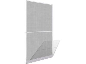 Moustiquaire à charnières blanche pour porte 120 x 240 cm - vidaXL