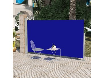 Paravent Store vertical Patio Terrasse 160 x 300 cm Bleu  - vidaXL