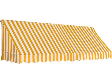 Auvent de bistro 300x120 cm Orange et blanc - vidaXL