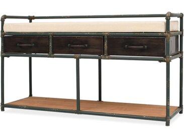 Banc de rangement avec coussin 107,5 x 34,5 x 59 cm - vidaXL